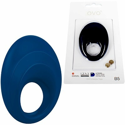 OVO B5 VIBRATING RING BLUE