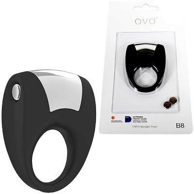 OVO B8 VIBRATING RING BLACK
